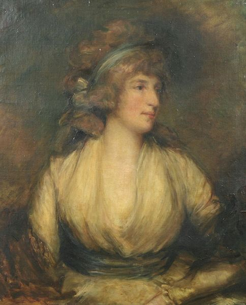 Portrait once thought to be Mrs Fitzherbet by Romney.
