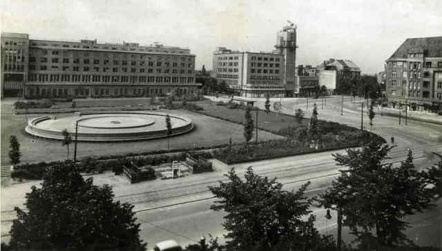 The Reichkanzlerplatz in Berlin around 1950 - around the time Grant was stationed there.