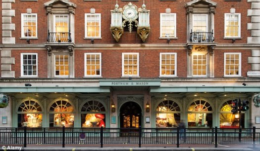 Fortnum and Mason,  181 Piccadilly, London.