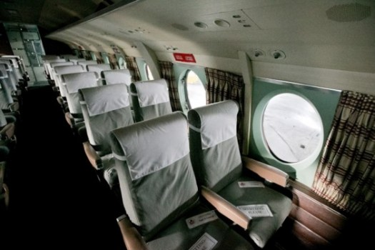 Undated shot of interior seating of Viscount.