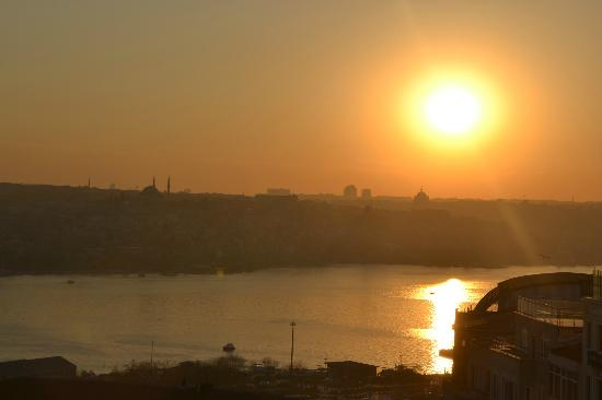 View of the Golden Horn from the Palas balcony.