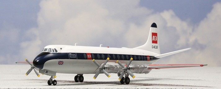 Model of a B.E.A. Viscount. Note the square-ended propellers.