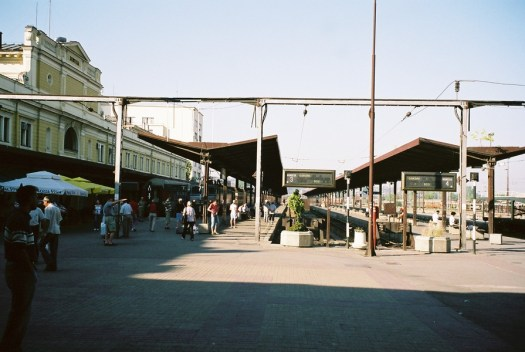 Modern day look at the platform at the station.
