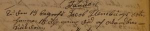 Hanna Flensburg f 1754 dödbok