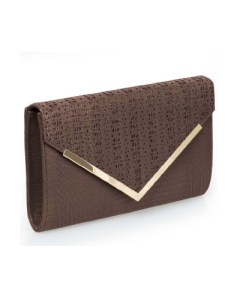 B.M.C PU Alligator skin perforated envelope clutch