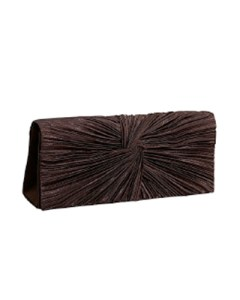 J Furmani Satin Flap Clutch in Brown