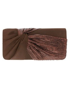 Nina Helma Clutch (Bronze Noble Satin)