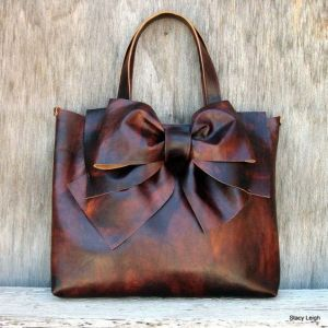 Stacy Leigh Leather Bow Tote