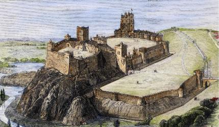 nottingham castle medieval england robin hood saxon anglo times history king etching jury grand pleased restoration million getting would adventures