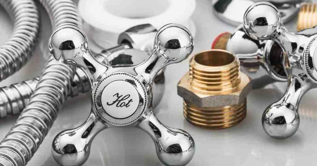 shower handles with plumbing supplies