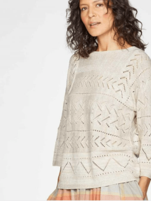 pull maille coton bio Thought