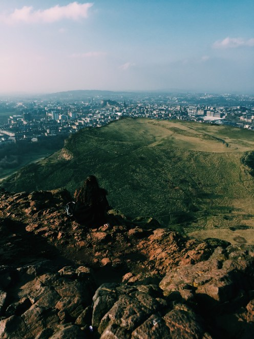 The view from Arthur's Seat, ft. me