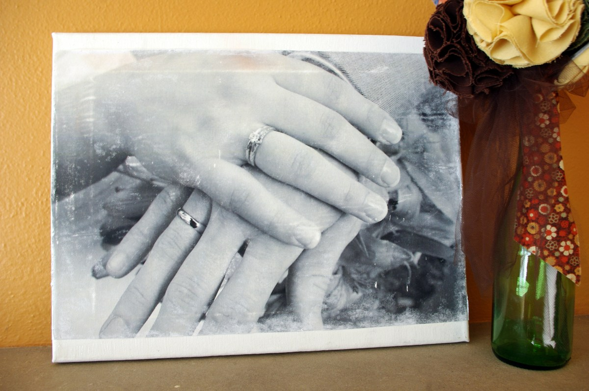 DIY Canvas Photo Transfer  Fleur dElise