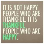 Thankful people are happy