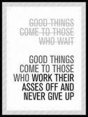 Perseverance is key
