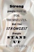 Stand up for those who can not speak up for themselves