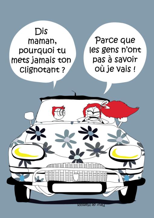 affiche road trip dessin humour voiture circulation ami6