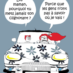 affiche road trip dessin humour voiture circulation ami6