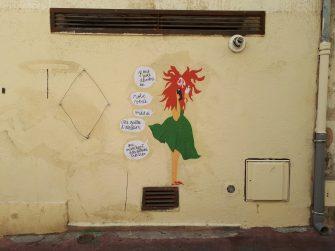 street art coiffé décoiffé