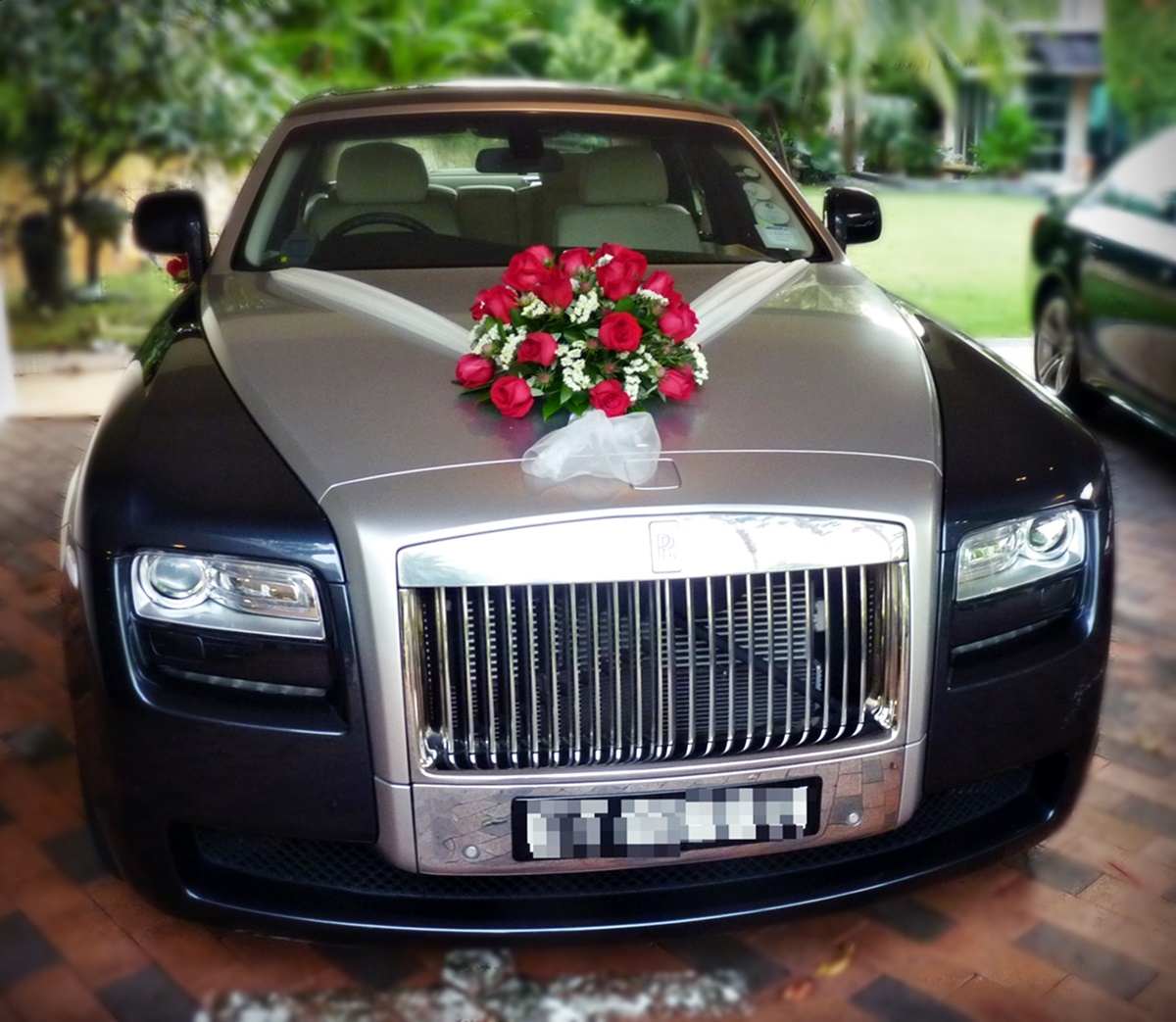 Bridal Car Decoration Flower Decoration Car Hd Images