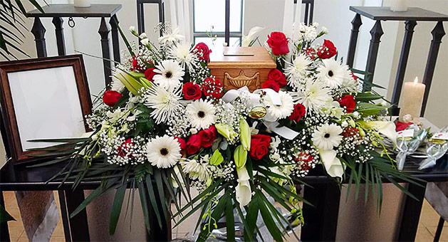 Fleurs pour funérailles