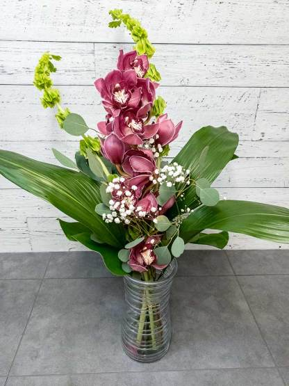 Bouquet de fleurs - Le simple cymbidium - Fleuriste Coin Vert