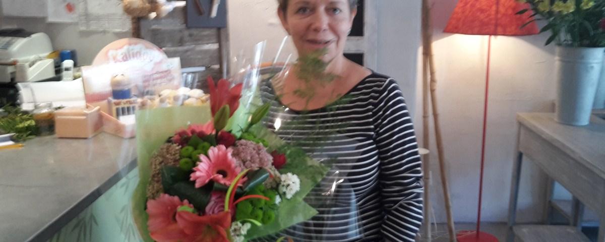 Marie Hélène BOUR, l'une des 10 gagnantes du tirage spécial rentrée, le 14 septembre 2016