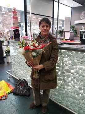 Jacqueline, gagnante du jeu Youpi Fleurs, tirage spécial noël du mercredi 21 décembre 2016