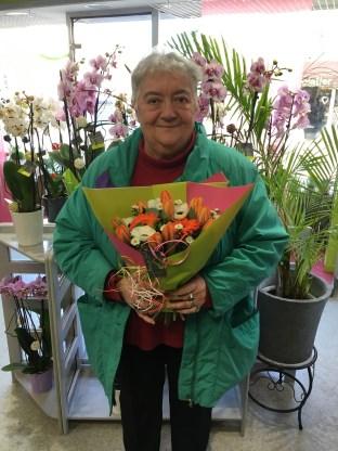 Anne, gagnante du jeu Youpi Fleurs, tirage du mercredi 1 février 2017