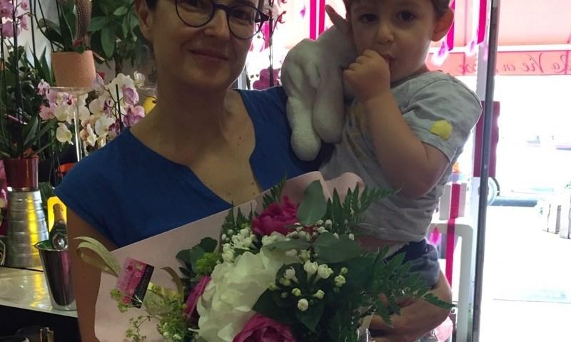 Nadia, gagnant du jeu Youpi Fleurs, tirage spécial fête des mères