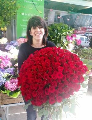 Bouquet réalisé par Amélia, artisan fleuriste à Nice - 06300