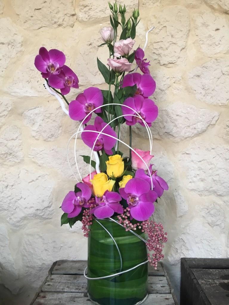Création florale en direct meilleur prix. Qualité fleuriste