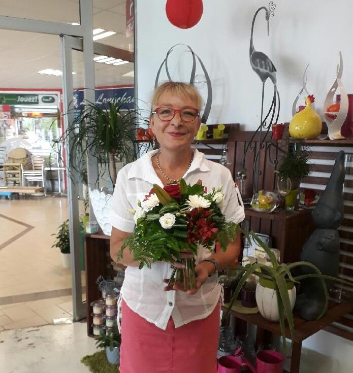 Corinne, gagnante du jeu Youpi Fleurs