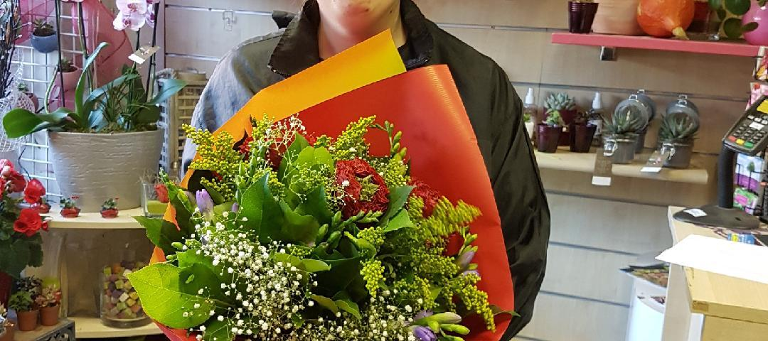 Joëlle, gagnante du jeu Youpi Fleurs