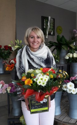 Lise, gagnante du jeu youpi fleurs