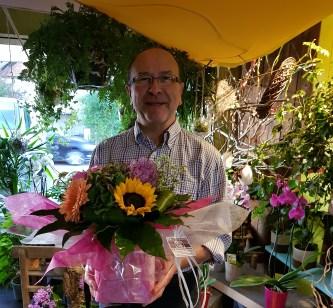 Christophe, gagnant du jeu youpi fleurs