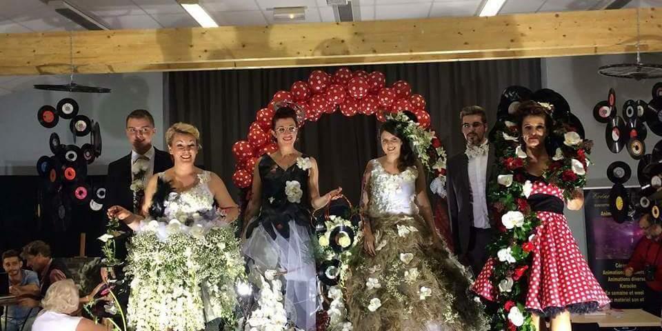 Défilé des créations florales réalisées par Dorothée et Julie