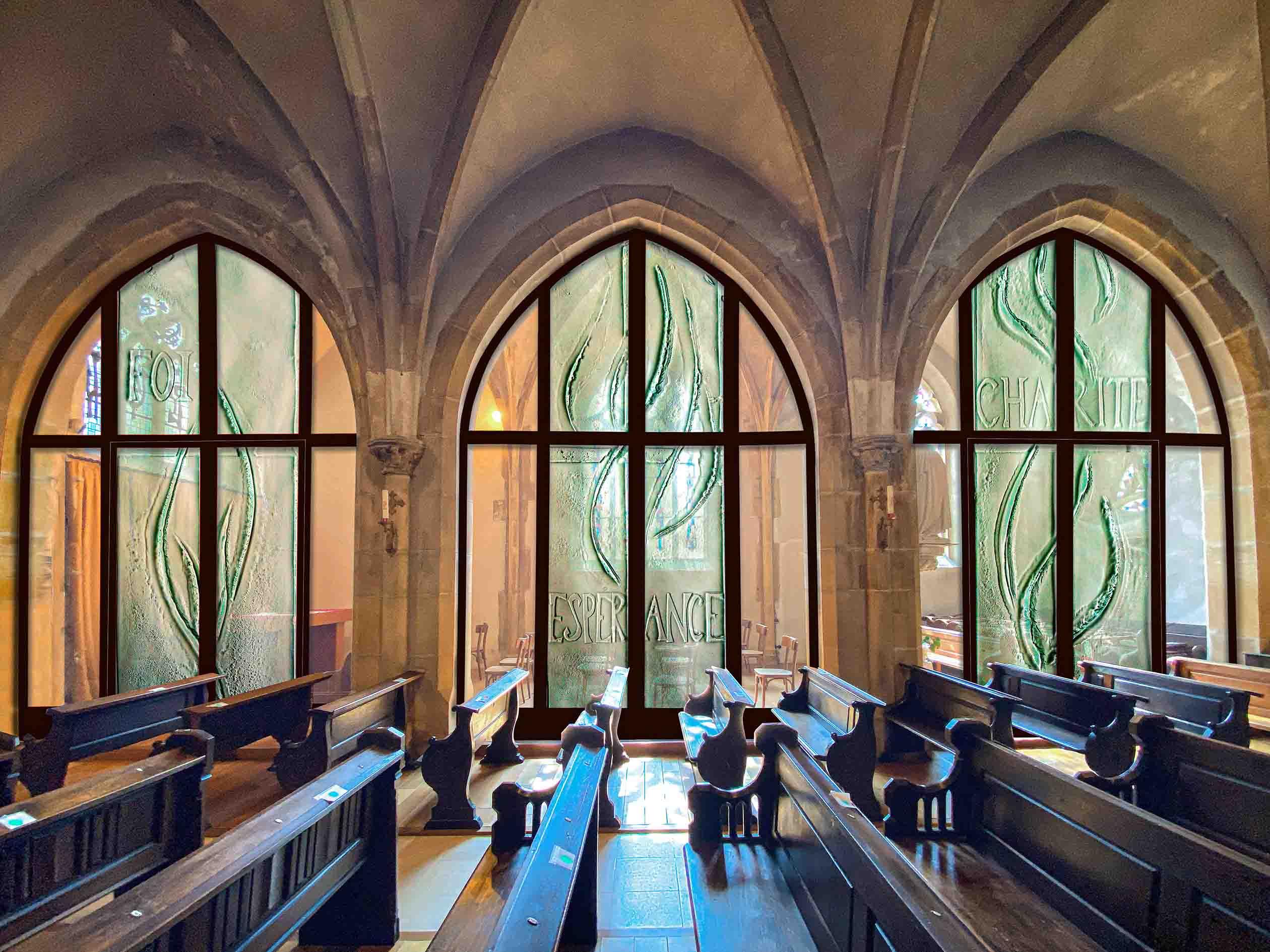 fleur nabert sculpteur église morhange vitraux thermoforme verre