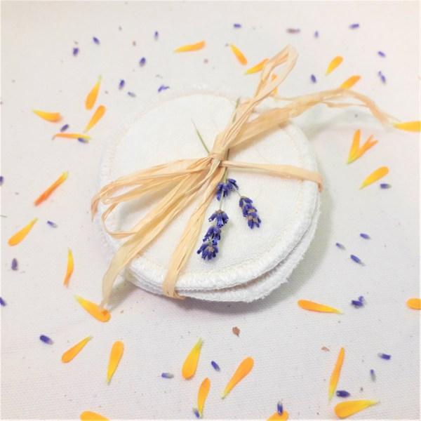 Cotons lavables bio Fleurs de Basile