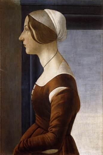 Sandro_Botticelli_-_Ritratto_di_giovane_donna 1475