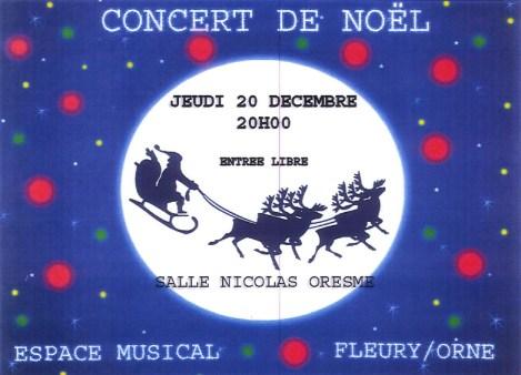 Concert de Noël de l'Espace Musical : Jeudi 20 décembre - 20h