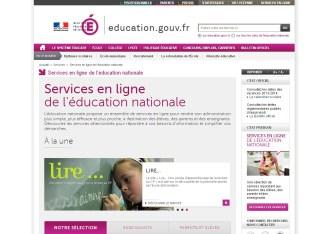 Les services en ligne de l'éducation nationale