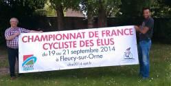 La banderole officielle des 27èmes Championnats de France cyclistes des élus 2014