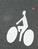 Marquages sol pour signaler aux véhicules la présence potentielle de vélos 2