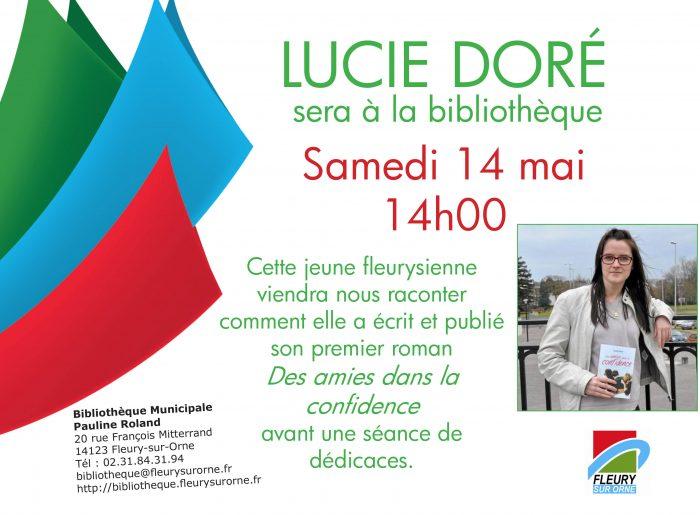 Affiche rencontre Lucie DORE