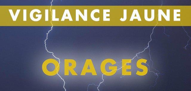 Vigilance jaune ORAGES