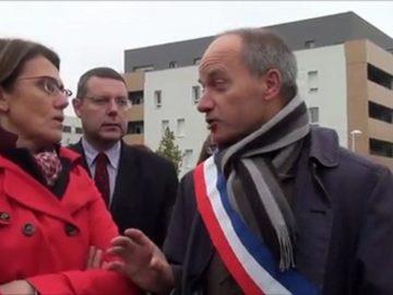 Point presse des Elus devant le collège Marcel Pagnol