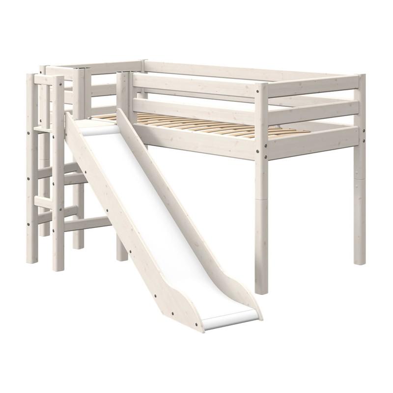 lit mi hauteur evolutif avec plateforme et toboggan classic