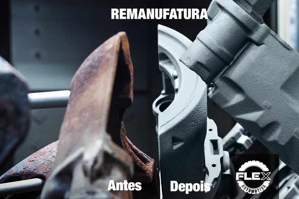 Remanufatura de uma pinça de freio Knorr - mostrando o antes e o depois. - Imagem ilustrativa - Foto: Knorr-Bremse