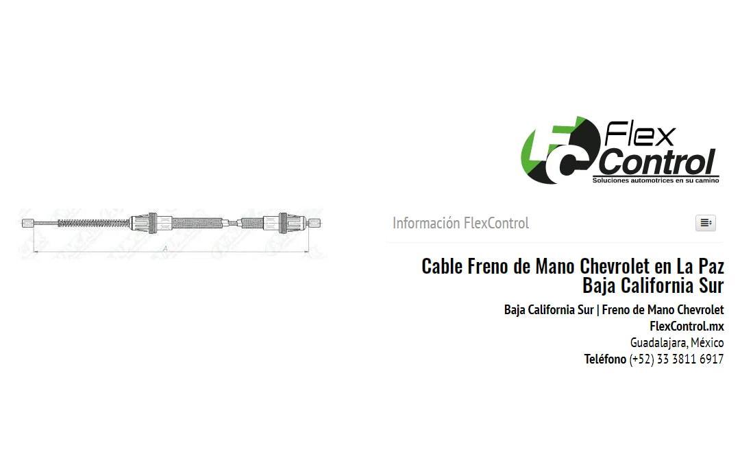 Cable Freno de Mano Chevrolet en La Paz Baja California Sur